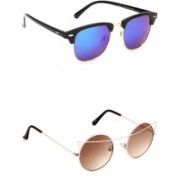 Eyeland Wayfarer, Round, Oval Sunglasses(Multicolor, Brown)