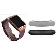 Zemini DZ09 Smart Watch and Gibox G6 Bluetooth Speaker for SONY xperia mini (DZ09 Smart Watch With 4G Sim Card Memory Card| Gibox G6 Bluetooth Speaker)