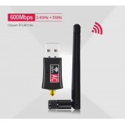 Dual Band 600Mbps USB WiFi Adapter AC600 2,4 GHz 5 GHz WiFi adapter