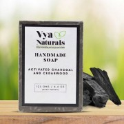 Activated Charcoal and Cedarwood Deep Cleansing Soap Bar (125g) By Vya Naturals