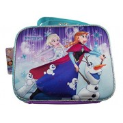 Disney Frozen Lunch Box Featuring 3D ELSA, Anna and Olaf with Snow Babies Graphic - Pink/Turquoise/Multi-Colored
