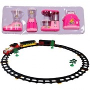 New Pinch Combo of Educational Household Set YH437 Role Play Toy with Train with Big Track Light and Sound for Kids