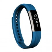 For Fitbit Alta Watch Oblique Texture Silicone Watchband Large Size Length: about 22cm(Blue)