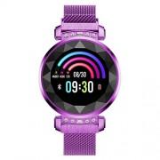 CCDYLQ Reloj Inteligente para Mujer, Pantalla táctil a Color con Bluetooth Fitness Tracker con frecuencia cardíaca monitoreo del sueño con Contador de calorías a Prueba de Agua,Purple
