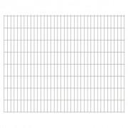 vidaXL 2D Panneaux de clôture de jardin 2008 x 1630 mm 28 m Argent