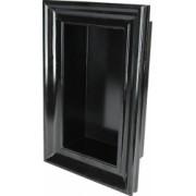 Etajera lemn tip rama tablou raft decorativ de perete 45 x 29 x 13 cm negru On the move