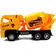 Construction Vehicles, Assorted Trucks Mini Car Toy, Friction Powered Push & Play Engineering Vehicles for Age 3 Years and up Boys and Girls as Gift (Mixer Set of 1)