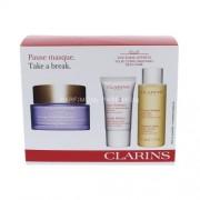 Clarins Take A Break Kit 75ml за Жени - Маска за лице Extra-Firming Mask 75 ml + почистваща вода Toning Lotion 50 ml + пилинг Gentle Refiner 15 ml За нормална до суха кожа