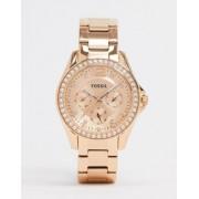 Fossil Riley rose gold bracelet watch ES2811