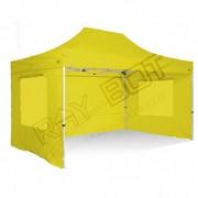 ray bot Gazebo pieghevole 3x4,5 giallo Exa 45mm alluminio TOP con finestre PVC 350g