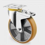 Roata pivotanta cu frana din aluminiu 200 mm - 800 kg TENTE 4687ITP200P63 Flat