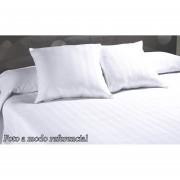 Cubrecama Liso Blanco Matelaseado 1 1/2pl / Twin Con Funda