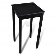 Sonata Бар маса, МДФ, черна, 55x55x107 см