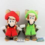 Super Mario Plush Toys Flying Squirrel Mario and Luigi Plush Toys Soft Stuffed Toy Figures 22cm