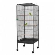 OUTIROR Cage à oiseaux en acier, grande taille, hauteur 1,46 M