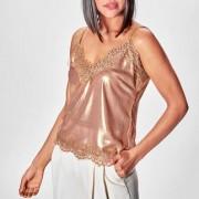 Liu Jo Metallic-Lingerie-Top, 38 - Nougat