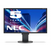 NEC MultiSync EA223WM black 22' LCD monitor with LED backlight, TN panel, resolution 1680x1050, VGA, DVI, DisplayPort, speakers, 130 mm height adjustable