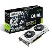 Placa video ASUS Dual GeForce GTX 1060, 1506 (1708) MHz, 6GB GDDR5, 192-bit, DVI-D, 2x HDMI, 2x DP, DUAL-GTX1060-6G