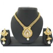 My Design Elegant Bridal Gold Plated Kundan Necklace Set For Women And Girls