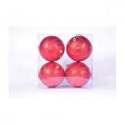 Globulete Craciun Plastic 4/Set