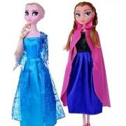 IndusBay Fashion Doll Frozen Sister Dolls Beautiful Princess Elsa and Anna