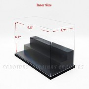 Odoria Clear UV Acrylic Display Box Case 9.8' Long 3 Step Dustproof For Amiibo Figure Display Protection