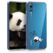 kwmobile Průhledné pouzdro s designem panda pro Huawei P20 - průhledná