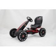 ABARTH Go Kart - Mașină cu pedale, negru, roți Eva, licență ORIGINAL
