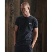 Superdry Vintage T-Shirt aus Bio-Baumwolle mit Stickerei aus der Orange L XL blau