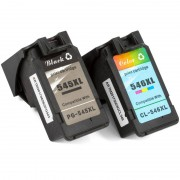 ZipZap PG-545XL/CL-546XL Pack 3 Cartuchos Compatibles Canon Negro/Tricolor
