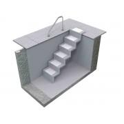 Universal-Pooltreppe Eleganz 60 U lang Universaltreppe