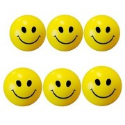 Set of 6 Pcs - Smiley Face Squeeze - Anti-Stress Ball Perfect Toy for Kids!