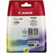 PG-40/CL-41 Tintapatron multipack Pixma iP1300, 1600, 1700 nyomtatókhoz, CANON, fekete,színes, 16ml+12ml (TJCPG40P)