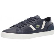Lacoste Sideline Tenis para Hombre, Navy/Off White Leather, 8 M US