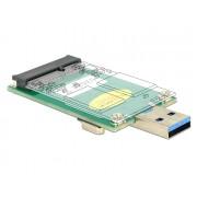 DeLock Converter USB 3.0 A male > mSATA full size 62681