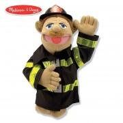 Marioneta de bombero Melissa & Doug con varilla de madera desmontable