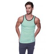 4-rth Light Weight Transition Striped Yoga Tank Top T Shirt Green/White/Black