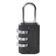 Mountain Warehouse Three Dial Combination Padlock - Black
