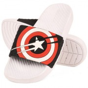Drunken Men'S Captain America Duramo Slide White Black Slip-On Sandal
