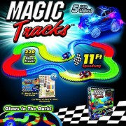 Kids track toys unbreakable tracks glows in the dark magic tracks