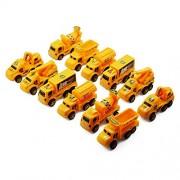 VistaraTrade Working Construction & Transport Truck Toy Set of 12 Trucks.