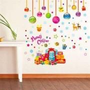 TipTop Wall Sticker Härlig tecknad Christmas Style Removable PVC Dekaler Room