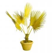 Planta artificiala galbena cu ghiveci din lut si plastic 169 cm Palm Pols Potten