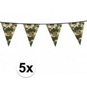 Geen 5x Camouflage slinger 6 meter