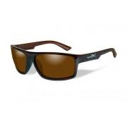 Wiley X Ochelari de soare barbati Wiley X PEAK Polarized Amber Gloss Layered