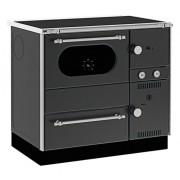 Soba de gatit cu plita si cuptor, incalzire centralizata, Alfa Plam, AlfaTerm20, 23 kW, negru, stanga