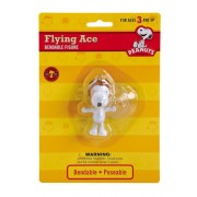 Peanuts - Flying Ace Snoopy Bendable Figure with Suction Cup