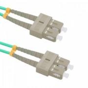 Qoltec Optic Patchcord SC/UPC - SC/UPC - Multimode - 50/125 - OM4 - Duplex - 10m