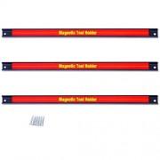 Goplus Soporte magnético para herramientas, 3 unidades, 18 pulgadas, ahorro de espacio y organizador fuerte con tornillos de montaje en pared, ideal para cuchillo, llave, utensilios, cochera o casa