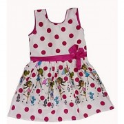 Kids dresses baby clothing Girls Polka Dot printed cotton frock